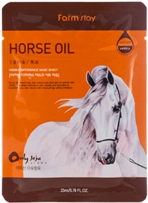 Маска тканевая для лица с лошадиным жиром Farmstay Visible Difference Horse Oil Mask Pack 23ml