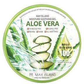 Гель универсальный с алоэ вера для лица и тела May Island Aloe Vera Moisture 100% Soothing Gel 300ml