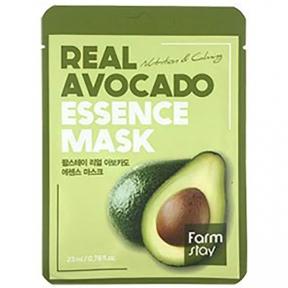 Маска тканевая увлажняющая с экстрактом авокадо FARMSTAY REAL AVOCADO ESSENCE MASK 23ml
