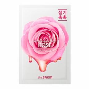 Маска тканевая увлажняющая с экстрактом розы The Saem Natural Rose Sheet 20ml