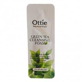 Миниатюра пенки для умывания с экстрактом зеленого чая Ottie Green Tea Cleansing Foam