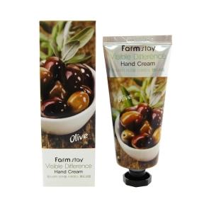 Крем для рук питательный с экстрактом оливы FarmStay Visible Difference Olive Hand Cream 100ml