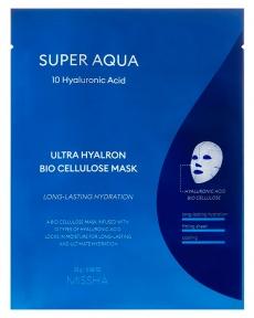 Ультраувлажняющая тканевая маска с гиалуроновой кислотой Missha Super Aqua Ultra Hyalron Bio Cellulose Mask 25g
