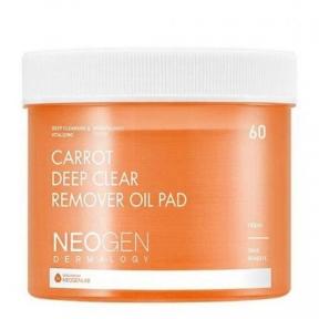 Пэды очищающие гидрофильные с морковным маслом Neogen Dermalogy Carrot Deep Clear Remover Oil Pad 60шт