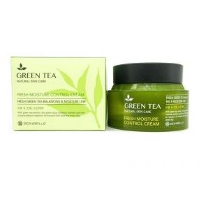 Крем увлажняющий с экстрактом зеленого чая  Enough Bonibelle Green Tea Fresh Moisture Control Cream 80ml