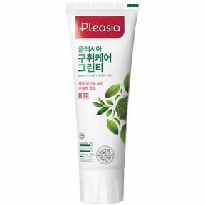 Зубная паста оздоравливающая с экстрактом зеленого чая Pleasia Green Tea Toothpaste 100 ml