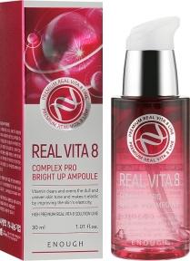 Осветляющая сыворотка с экстрактом облепихи Enough Real Vita 8 Complex Pro Bright Up Ampoule 30ml