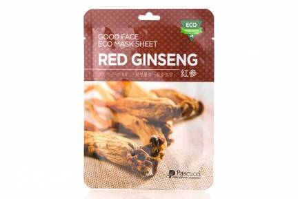 Маска Омолаживающая Увлажняющая С Экстрактом Женьшеня Amicell Pascucci Good Face Eco Mask Sheet Red Ginseng