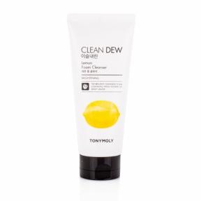 Пенка очищающая для умывания с экстрактом лимона для лица Tony Moly Clean Dew Foam Cleanser Lemon 180ml