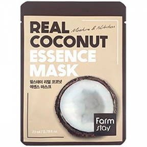 Маска тканевая увлажняющая с экстрактом кокоса REAL COCONUT ESSENCE MASK FARMSTAY 23ml