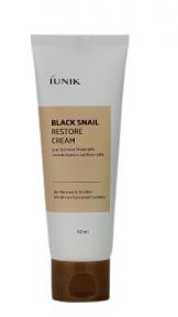 Крем для лица восстанавливающий антивозрастной с муцином черной улитки IUNIK Black Snail Restore Cream 60ml