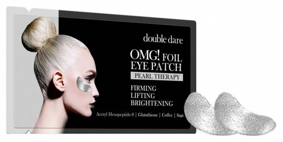 Патчи укрепляющие с кофеином  Double Dare OMG! Foil Eye Patch Pearl Treatment