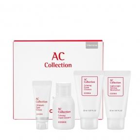 Набор для жирной и проблемной кожи: тонер, точечный крем, пена для умывания и крем для лица Cosrx AC Collection Trial Kit_Oily Skin_Intensive (4 step) 75ml
