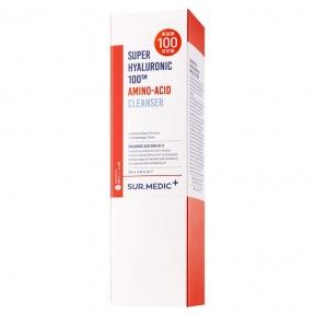 Пенка для умывания очищающая с аминокислотами и гиалуроновой кислотой SUR.MEDIC+ SUPER HYALURONIC 100TM AMINO-ACID CLEANSER Neogen 3.38oz /100ml