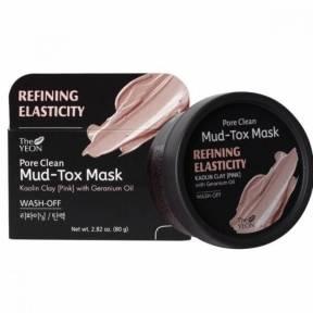 Маска-Детокс Омолаживающая для Лица С Розовой Глиной И Экстрактом Герани The Yeon Pore Clean Mud-Tox Mask Pink 80g