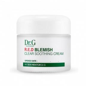 Успокаивающий крем для лица с экстрактом центеллы Doctor.G Red Blemish Clear Soothing Cream 70ml