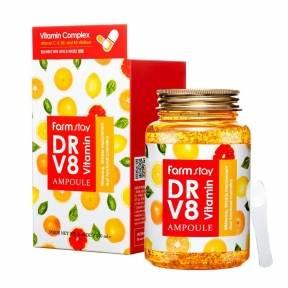 Питательная сыворотка с витаминным комплексом FarmStay DR-V8 Vitamin Ampoule 250 ml