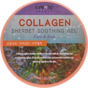 Гель-щербет для лица и тела успокаивающий с коллагеном Eyenlip Collagen Sherbet Soothing Gel 300ml