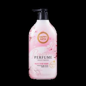 Парфюмированный гель для душа с ароматом цветков вишни Happy Bath Romantic Cherry Blossom Perfume Body Wash 900ml