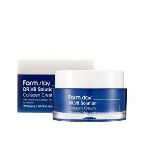 Интенсивно увлажняющий крем с коллагеном для лица FARMSTAY Dr.V8 Solution Collagen Cream 50ml