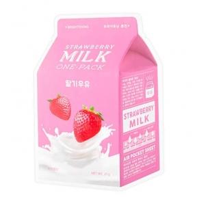 Маска С Молочными Протеинами И Экстрактом Клубники A'pieu Milk Strawberry One Pack Sheet Mask