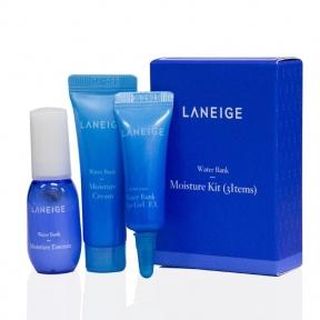 Набор: эссенция, крем для лица и крем-гель для век увлажняющий с морской водой  Laneige Water Bank Moisture 3 Kit 23ml