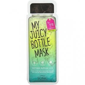 Маска Успокаивающая Увлажняющая С Экстрактом Алоэ и Жасмина Scinic My  Juicy Bottle Mask  Soothing Ampoule