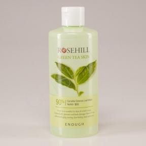 Тонер успокаивающий с экстрактом зеленого чая Enough  Rosehill Green tea skin 90% 300ml