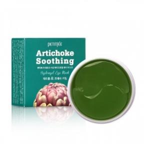 Патчи гидрогелевые успокаивающие с экстрактом артишока для глаз PETITFEE Artichoke Soothing Eye Patch 60шт.