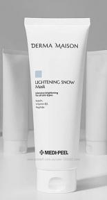 Маска глиняная для выравнивания и осветления тона лица MEDI-PEEL Derma Maison Lightening Snow Mask 250ml