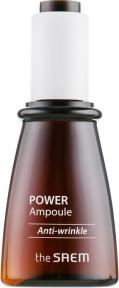 Ампульная эссенция  антивозрастная c экстрактом соевых бобов The Saem Power Ampoule Anti-wrinkle 35ml