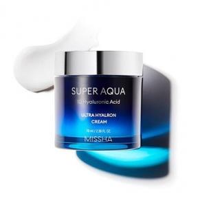 Крем Cупер Увлажняющий С Гиалуроновой Кислотой Missha Super Aqua Ultra Hyalron Cream 70ml