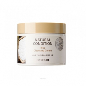 Крем очищающий с экстрактом рисовых отрубей The Saem Natural Condition Rice Cleansing Cream 300ml