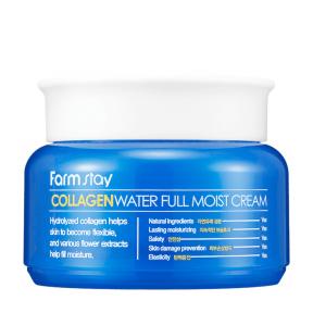 Крем коллагеновый омолаживающий для лица с цветочными экстрактами FarmStay Collagen Water Full Moist Cream 100g