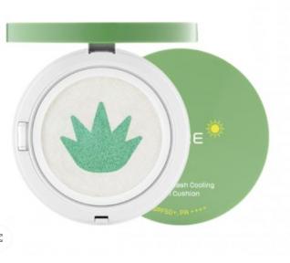 Кушон освежающий солнцезащитный с алоэ Kim Jeong Moon Cure Water Splash Aloe Cooling Sun Cushion SPF50+ PA++++ 25g