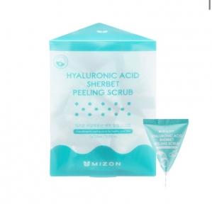 Скраб-щербет с содой и гиалуроновой кислотой для лица Hyaluronic Acid Sherbet Peeling Scrub Mizon 7g