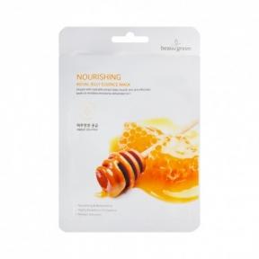 Маска тканевая питательная с маточным молочком для лица BeauuGreen Nourishing Royal Jelly Essence Mask 23ml
