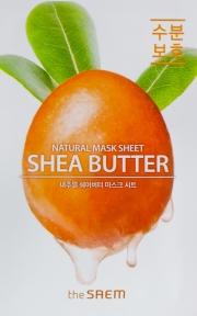 Маска тканевая для лица увлажняющая с маслом Ши Natural Shea Butter Mask Sheet The Saem 21ml