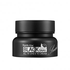Крем для глаз с муцином черной улитки FarmStay All-In-One Black Snail Eye Cream 50ml