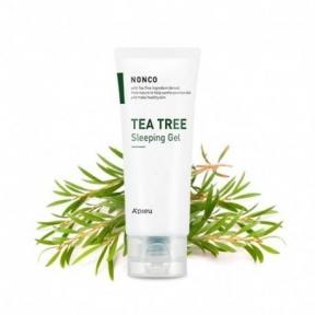 Маска ночная успокаивающая с маслом чайного дерева A'pieu  Nonco Tea Tree Sleeping Gel  80ml