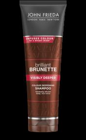 Шампунь для создания насыщенного цвета темных волос с экстрактом какао John Frieda Brilliant Brunette Visibly Deeper Shampoo 250ml