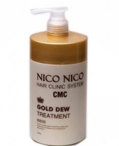 Восстанавливающая маска с компонентами золота для волос AOMI NICO NICO Gold Dew Treatment 1000ml