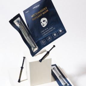 Маска укрепляющая с микроиглами и пептидами для лица Trimay Microneedle Implant Mask 30ml