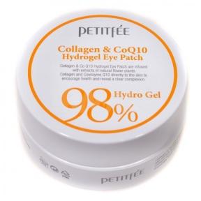 Гидрогелевые Патчи Для Глаз С Коллагеном и Коэнзимом Petitfee Collagen 98% & Co Q10 Hydrogel Eye Patch 60 Шт