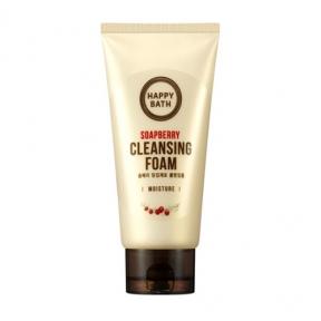 Пена для умывания с экстрактом мыльнянки Happy Bath Soapberry Cleansing Foam Moisture 150 ml