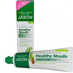 Органическая Зубная Паста Удаление Налета И Зубного Камня С Маслом Чайного Дерева И Корицей Jason Natural Healthy Mouth