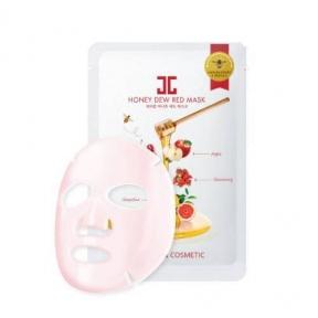 Маска С Витаминным Комплексом  JayJun Honey Dew Red Mask Осветляющая Увлажняющая