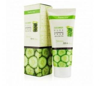 Пенка увлажняющая с экстрактом огурца Pure Cleansing Foam Cucumber FarmStay 180ml
