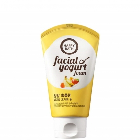 Пена для умывания увлажняющая с экстрактом йогурта и банана Happy Bath Moisture Facial Yogurt Foam 120ml