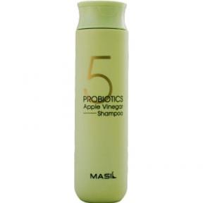 Мягкий бессульфатный шампунь с проботиками и яблочным уксусом Masil 5 Probiotics Apple Vinegar Shampoo